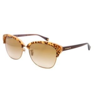 Coach Michayla Sunglasses Amber Ocelot